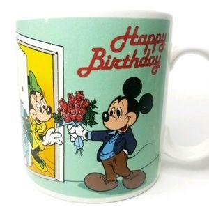 Mickey Mouse Coffee Mug Minnie Happy Birthday